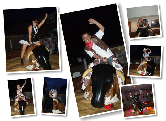 Rodeo bull party